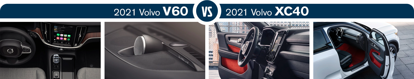 2021 Volvo V60 or XC40 Interior