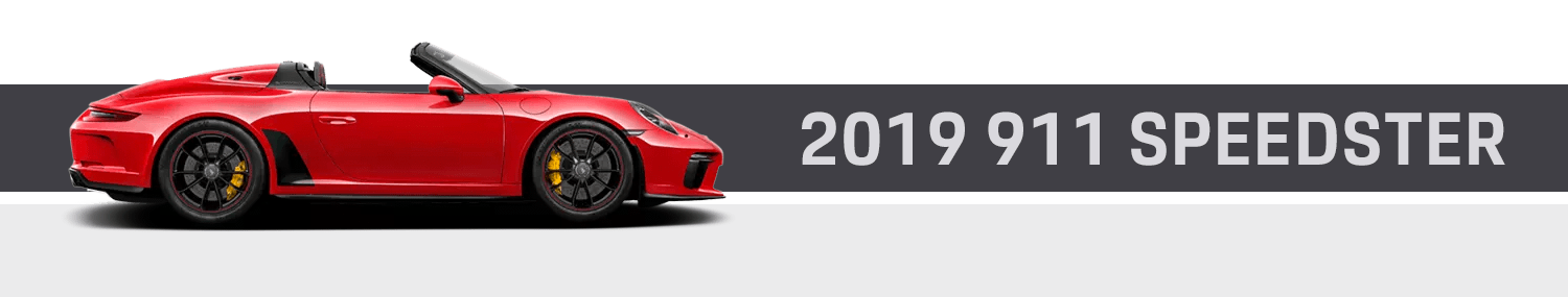 Discover The New 2019 Porsche 911 Speedster Model Exciting Features & Model Options