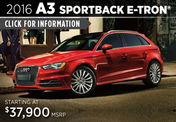 Click For Details About The 2016 Audi A3 Sportback e-tron Model in Naperville, IL