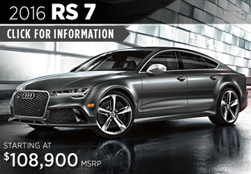 Click For Details About The 2016 Audi RS 7 Model in Naperville, IL