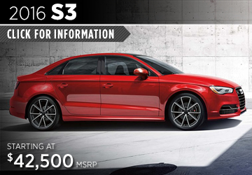 Click For Details About The 2016 Audi S3 Model in Naperville, IL
