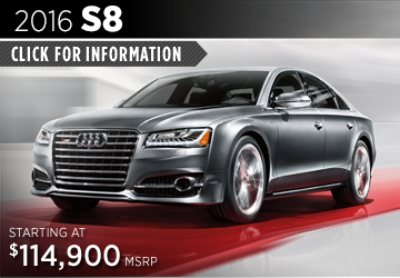 Click For 2016 Audi S8 Model Details in Naperville, IL
