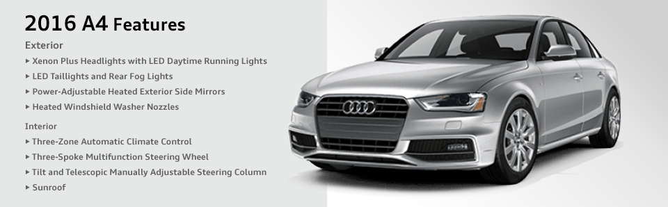 Audi A Model Features Specifications Chicago Car Leasing - Audi car features