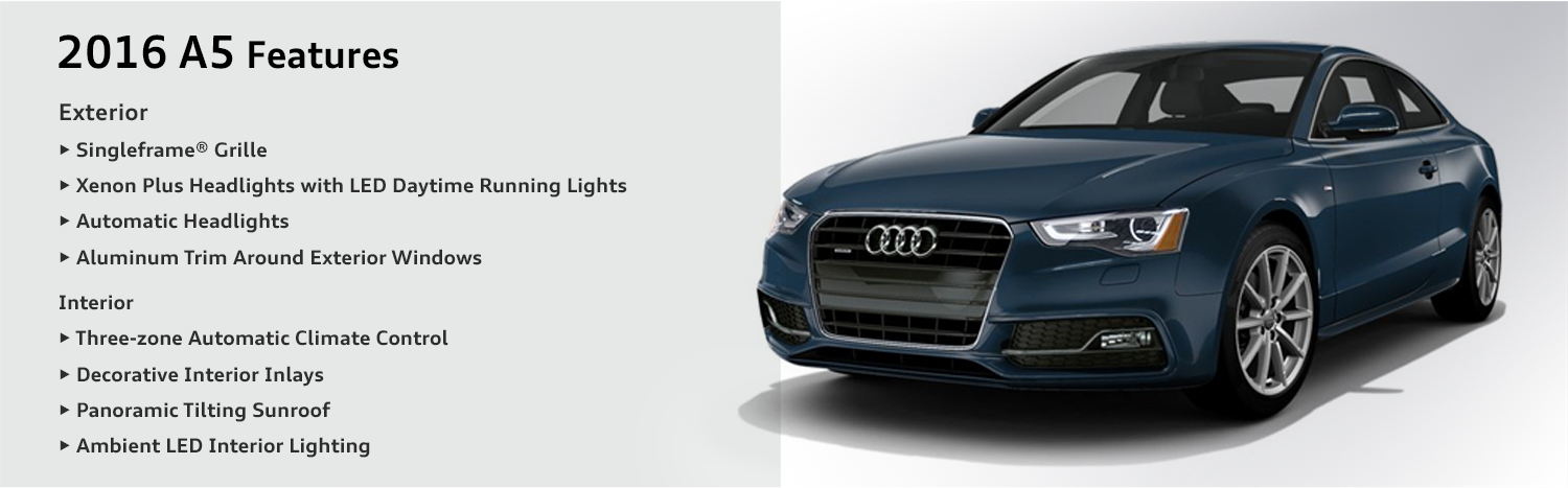 2016 Audi A5 model features & specifications