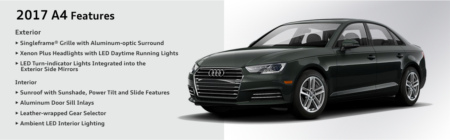 2017 Audi A4 Features