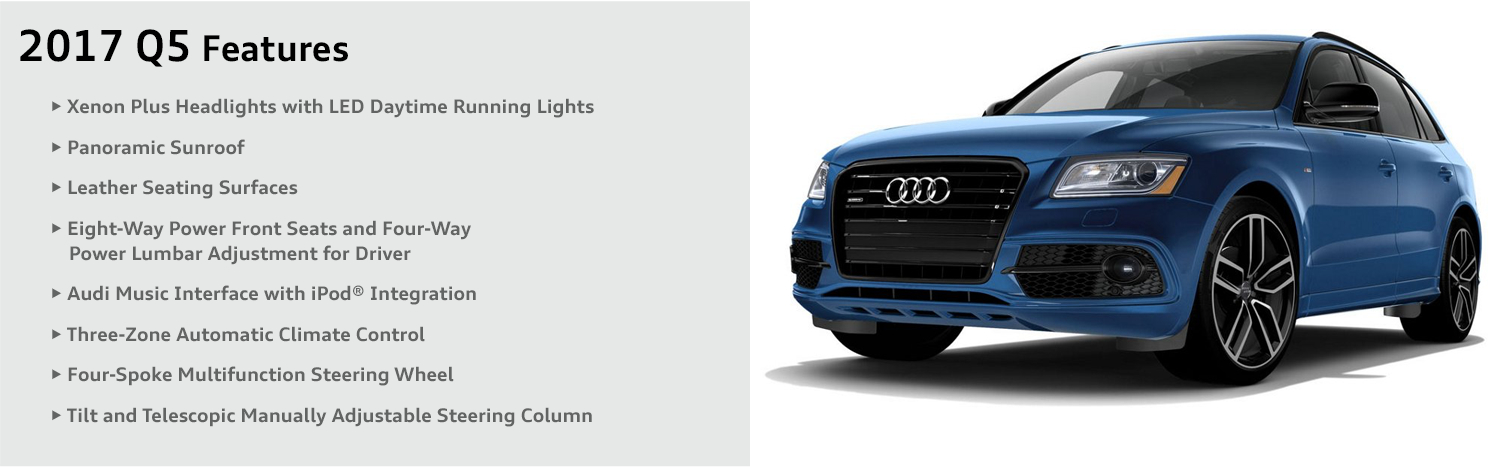 2017 Audi Q5 model features & specifications