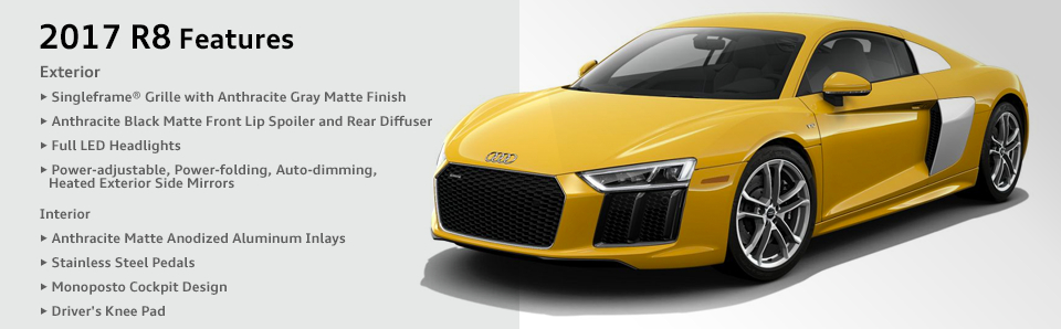 2017 Audi R8 Model Features Amp Specifications Chicago Car