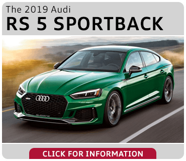 Click to browse our 2019 Audi RS 5 Sportback model information at Audi Gilbert