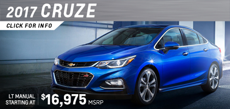 Click to research the new 2017 Chevrolet Cruze model in Salem, OR