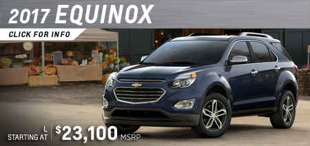 Click to View Our 2017 Chevrolet Equinox Model Information in Salem, OR