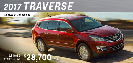 Click to research the new 2017 Chevrolet Traverse model in Salem, OR
