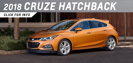 Click to view our 2018 Cruze Hatchback model information at Capitol Chevrolet in Salem, OR
