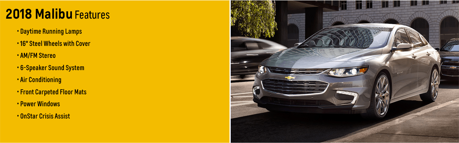 New 2018 Chevrolet Malibu Features & Details - model research