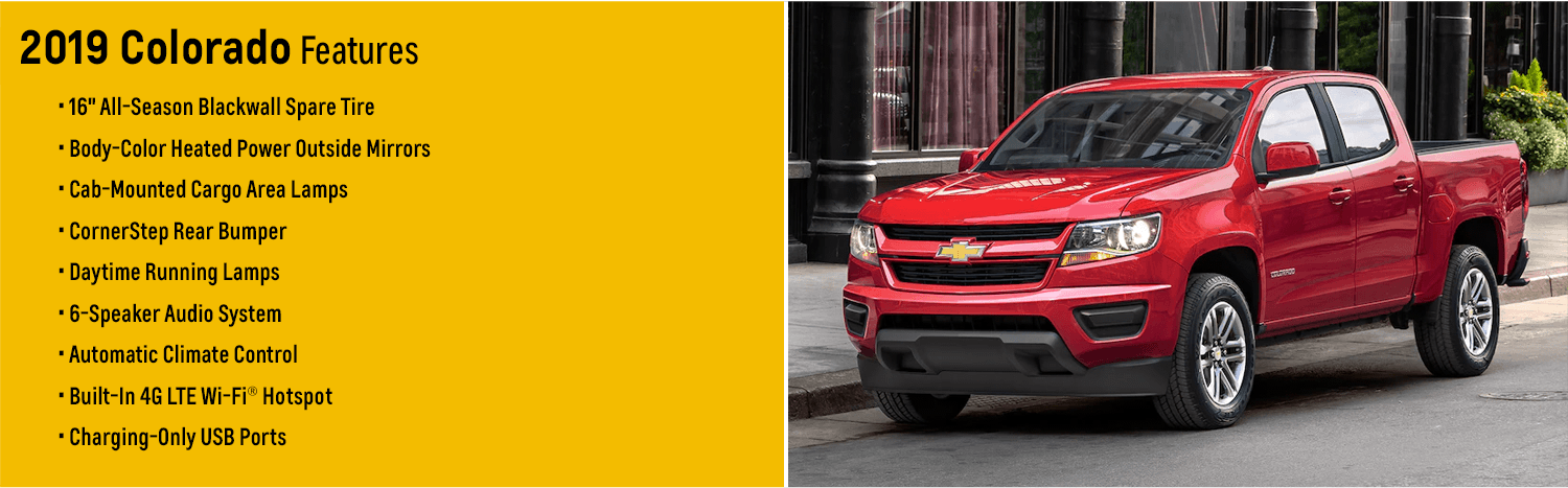 2019 Chevy Colorado Model Features | Midsize Truck for ...
