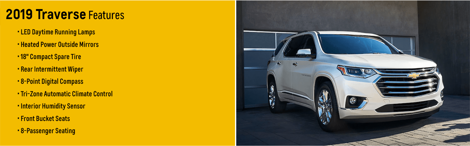 2019 Chevrolet Traverse Features | 3-Row Crossover for ...