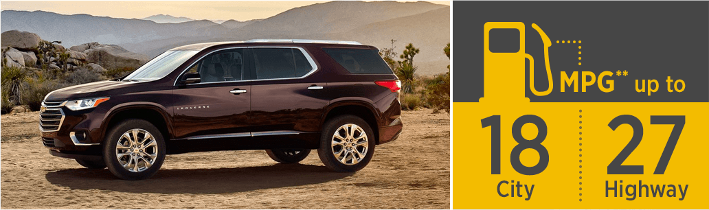 chevrolet traverse features  row crossover  salem