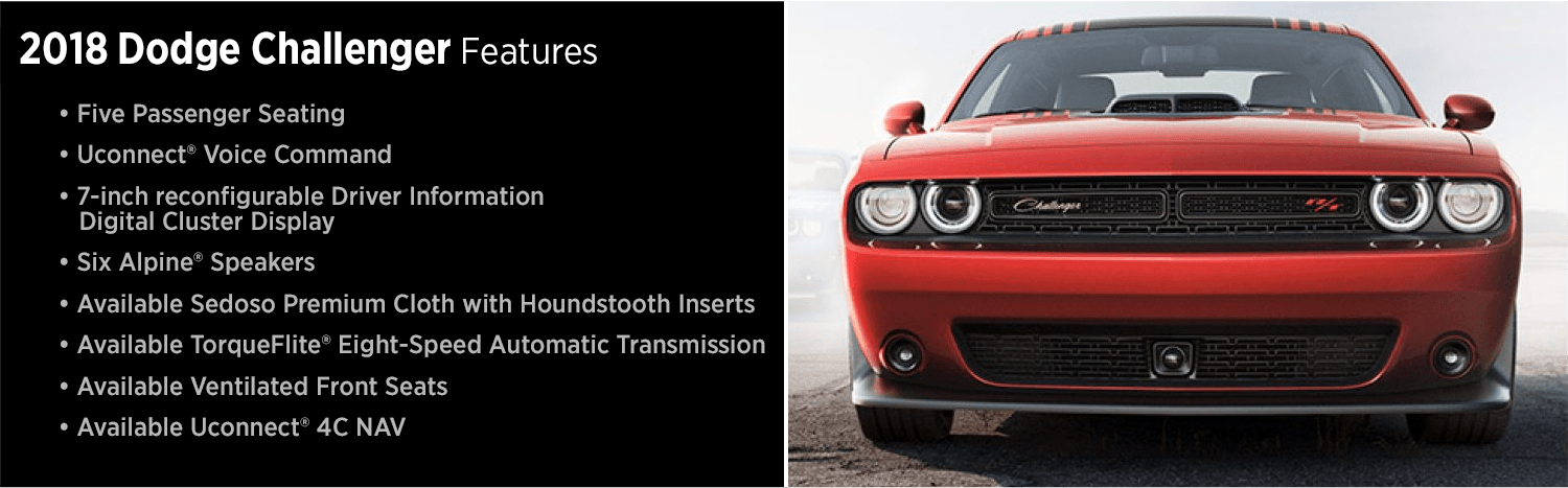 New 2018 Dodge Challenger Features Details Sports Car Research