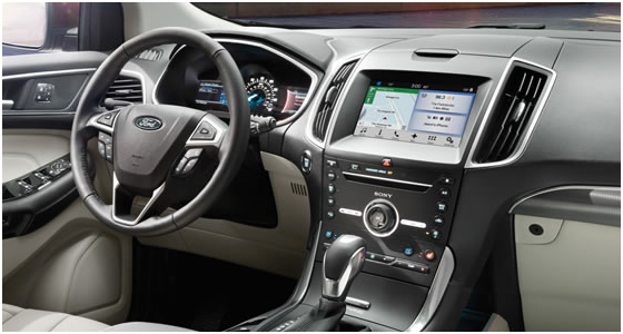 2016 Ford Edge Model Interior Design