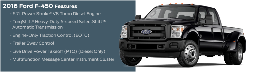 2016 Ford F-450 Model Features
