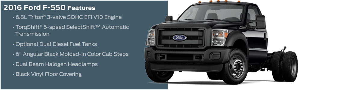 2016 Ford F-550 Model Features