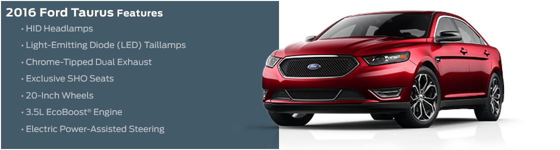 2016 Ford Taurus Model Features