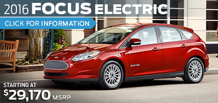 Click to Research The New 2016 Ford Focus Electric Model in Lakewood, WA