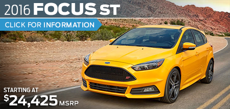 Click to Research The New 2016 Ford Focus ST Model in Lakewood, WA