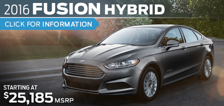 Click to Research The New 2016 Ford Fusion Hybrid Model in Lakewood, WA