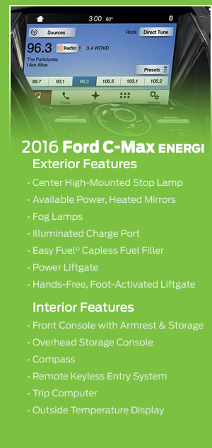 2016 Ford C-Max Energi Model Features
