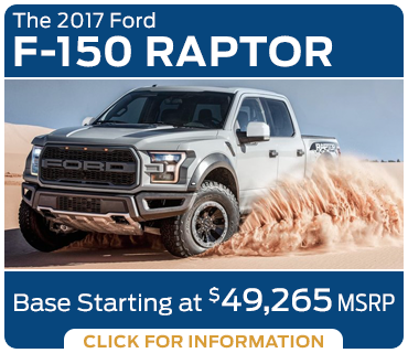 Click to research the new 2017 Ford F-150 Raptor model in Tacoma, WA