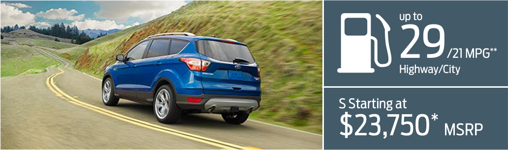 2017 Ford Escape model MSRP & Fuel Mileage