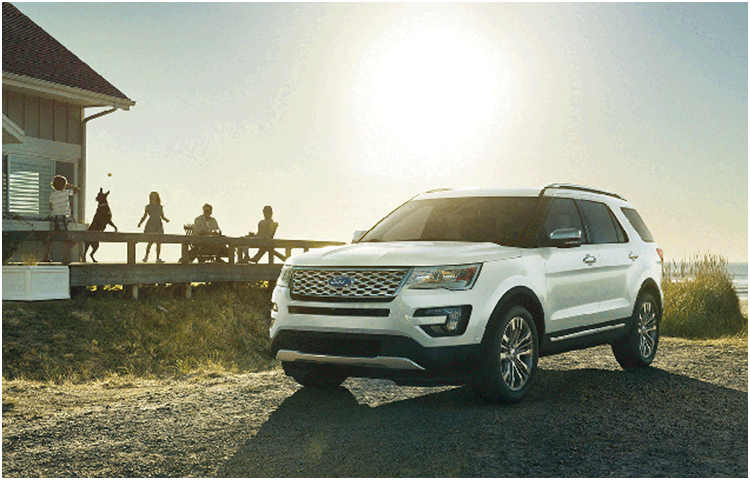 2017 Ford Explorer Model Exterior Design