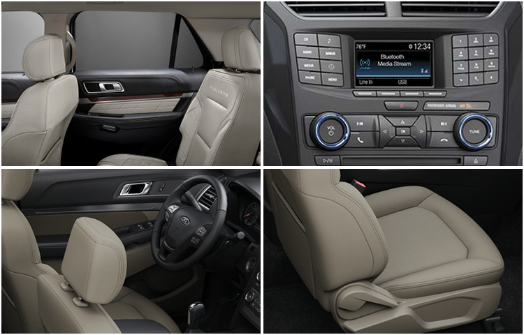 2017 Ford Explorer Model Interior Style