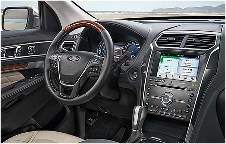 2017 Ford Explorer Model Interior Features