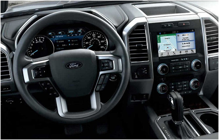 2017 Ford F-150 interior styling