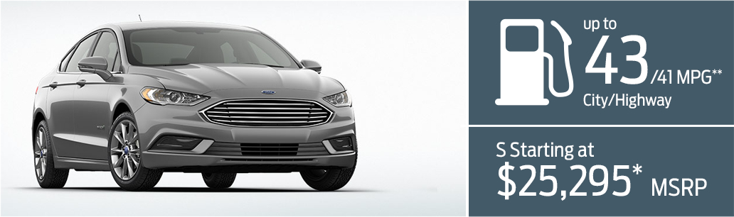 2017 Ford Fusion Hybrid MSRP Information