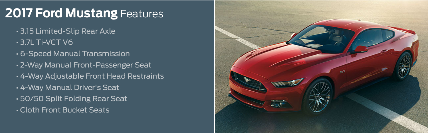 2017 Ford Mustang Model Features & Specifications