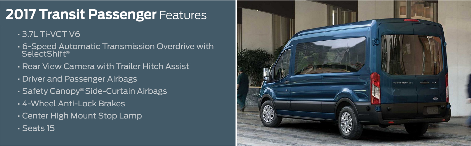 2017 Ford Transit Passenger Wagon Model Features