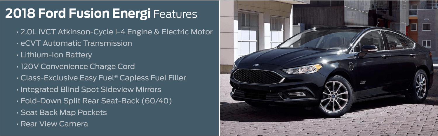 2018 Ford Fusion Energi model features