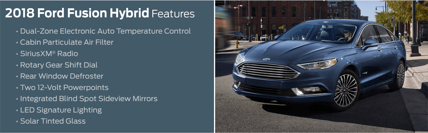 2018 Ford Fusion Hybrid model features