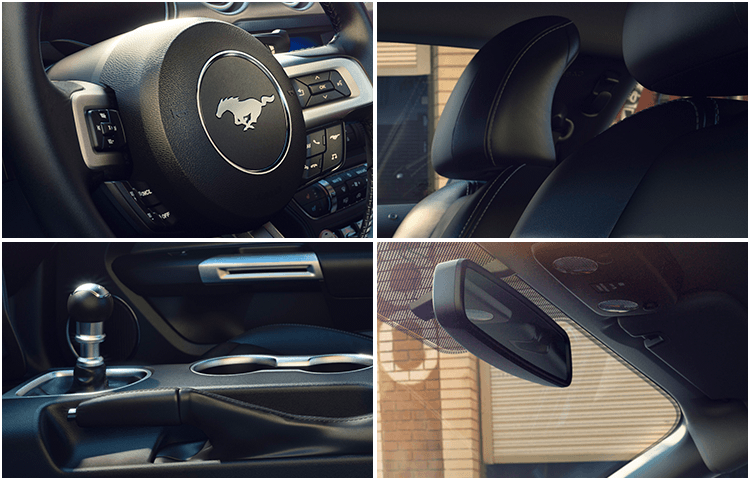 2018 Ford Mustang body interior styling