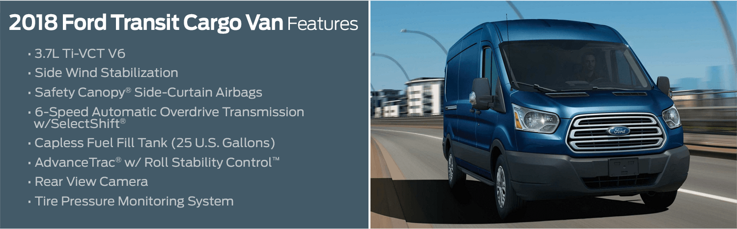2018 Ford Transit Cargo Van model features