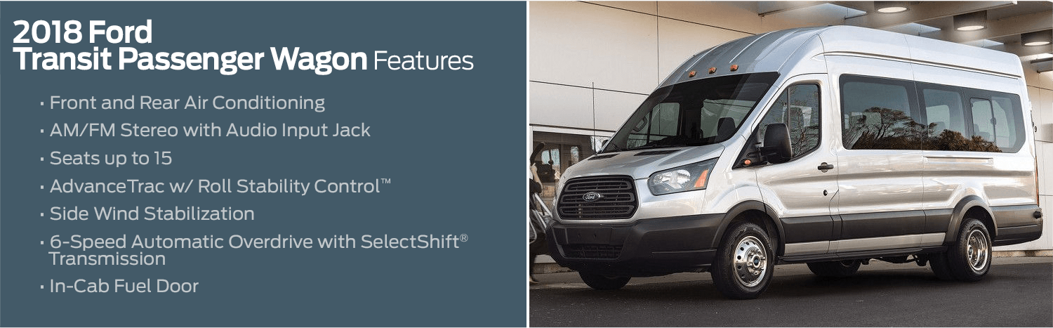 2018 Ford Transit Passenger Wagon model features