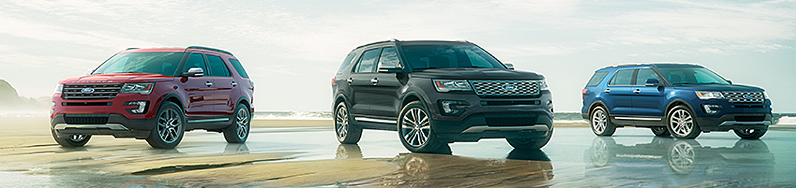 2017 Ford Explorer Model in Motion