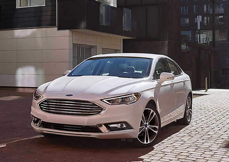 2017 Ford Fusion Hybrid model exterior design