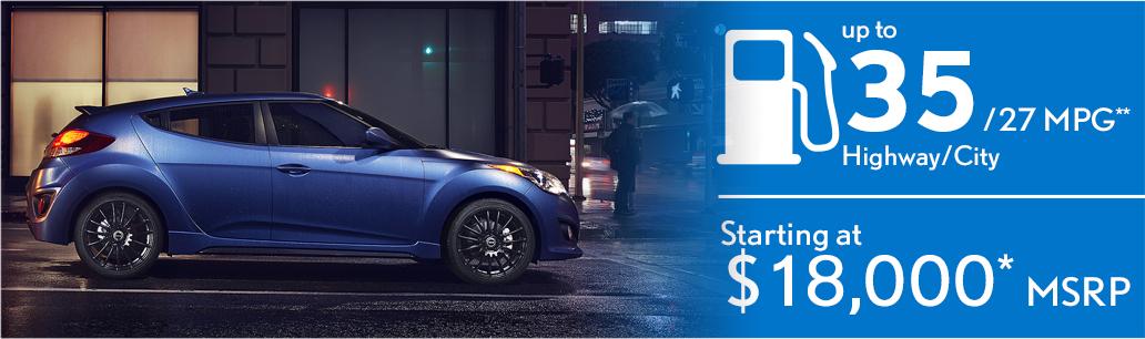 2016 Hyundai Veloster MSRP & Fuel Mileage