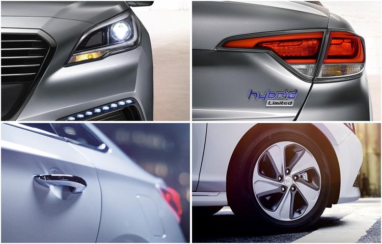 2017 Hyundai Sonata Hybrid model exterior design