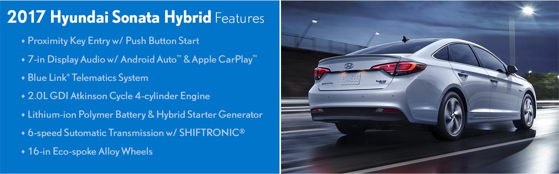 2017 Hyundai Sonata Hybrid model features