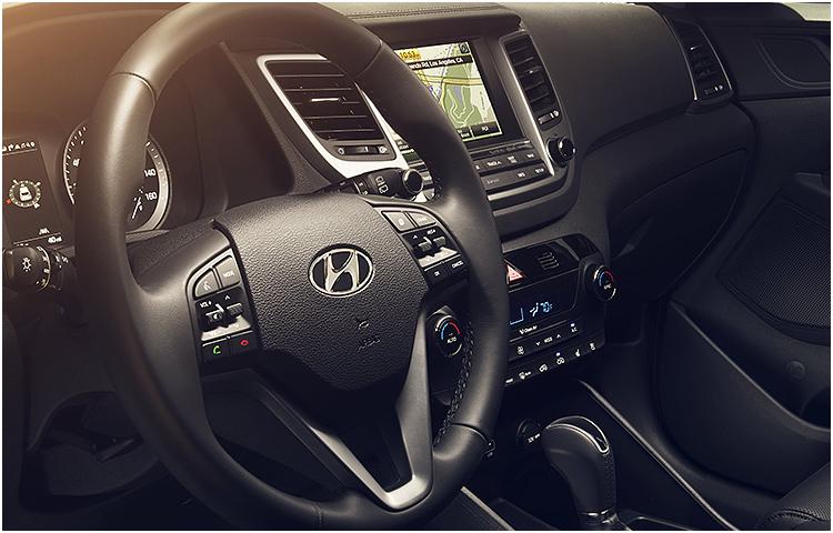 2017 Hyundai Tucson model interior design & style
