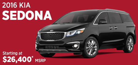 Click For 2016 Kia Sedona Model Information in Olympia, WA